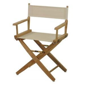 Directors Chairs 18' Deck Wood Frame-with Natural Canvas