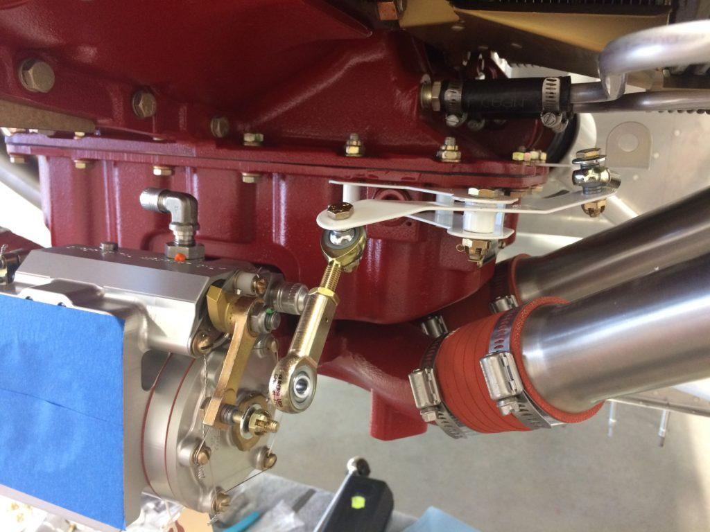 Mixture bellcrank installed
