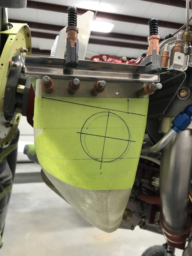 Filter bypass hole marked
