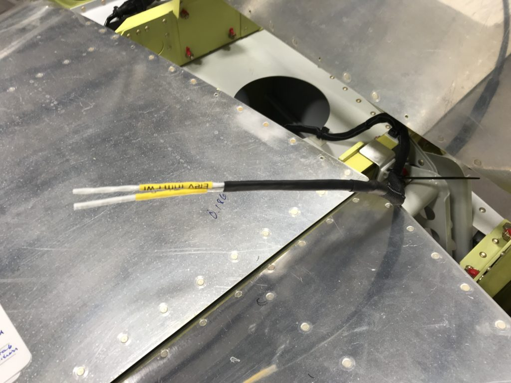 Pitch trim wire over the HS spar
