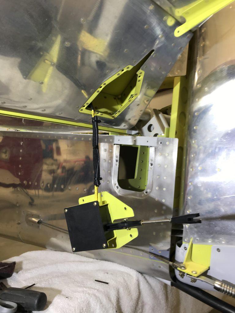 Pitch trim servo ready for installation