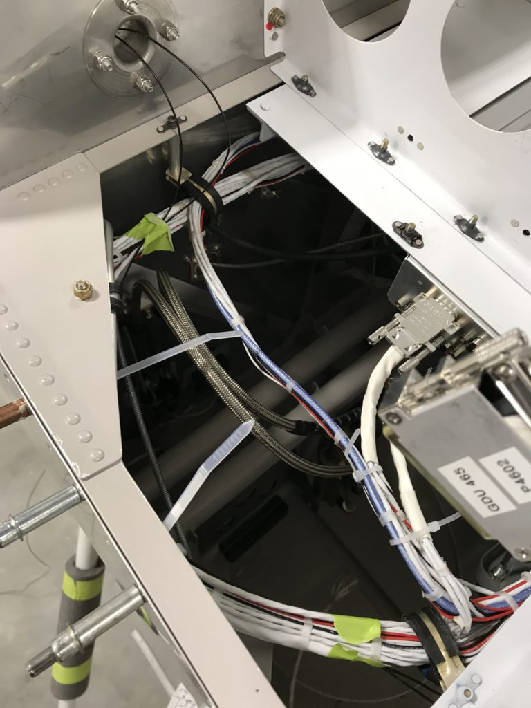 Left side sub panel wiring