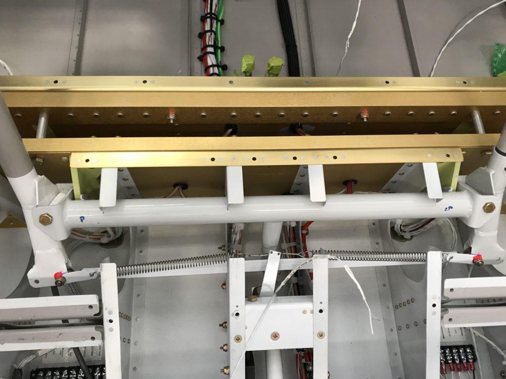 Aileron trim installed