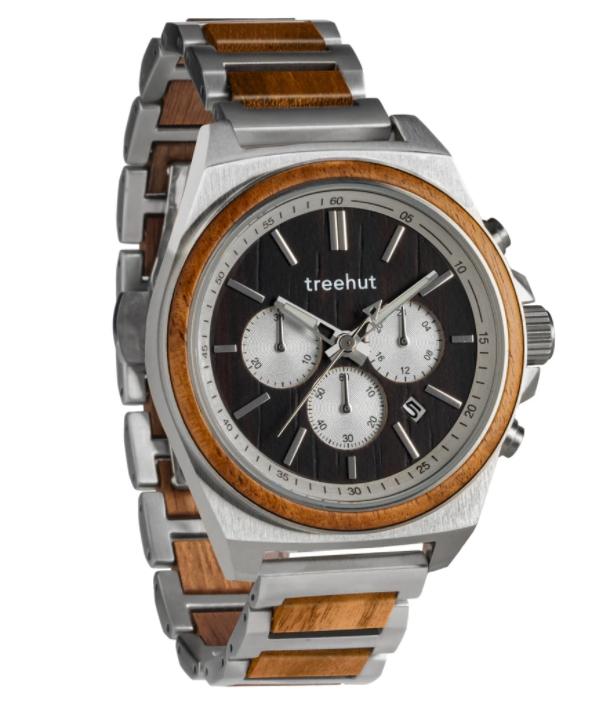 Treehut Aster Koa Wood Watch