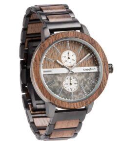treehut tao grey marble wooden watch