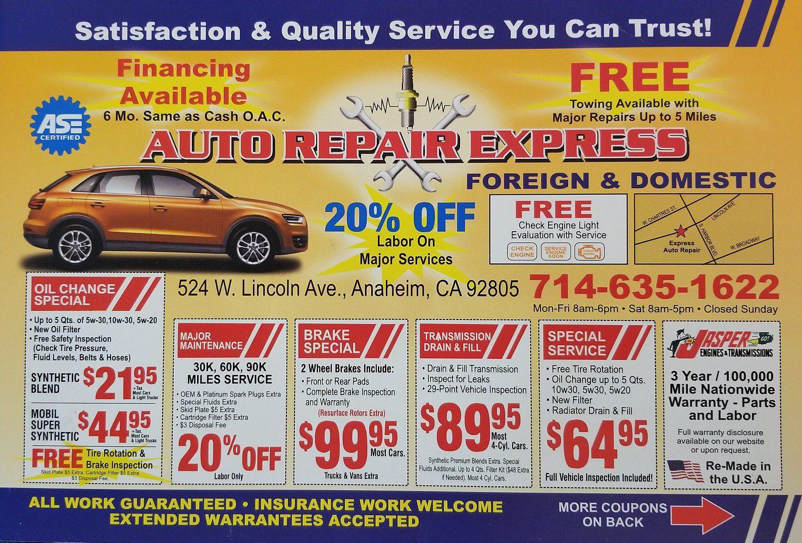 Auto Repair Express Anaheim