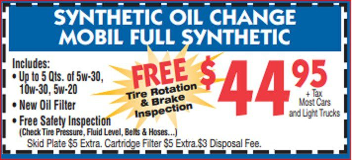 OIL COUPON OFFER
