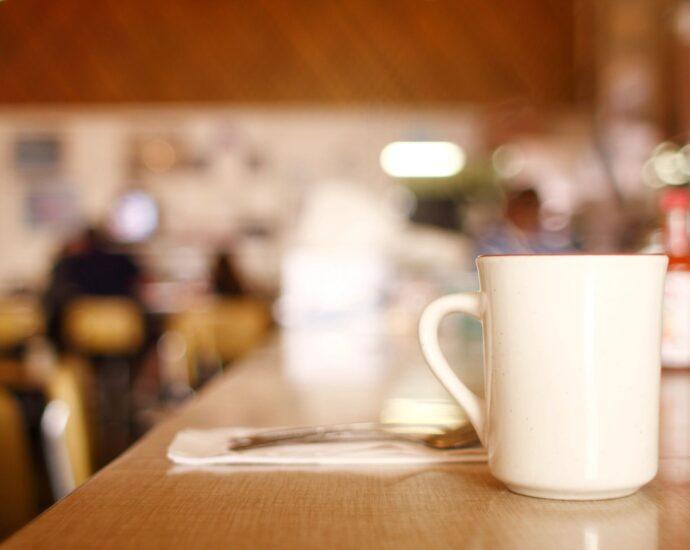 Coffee on a bar