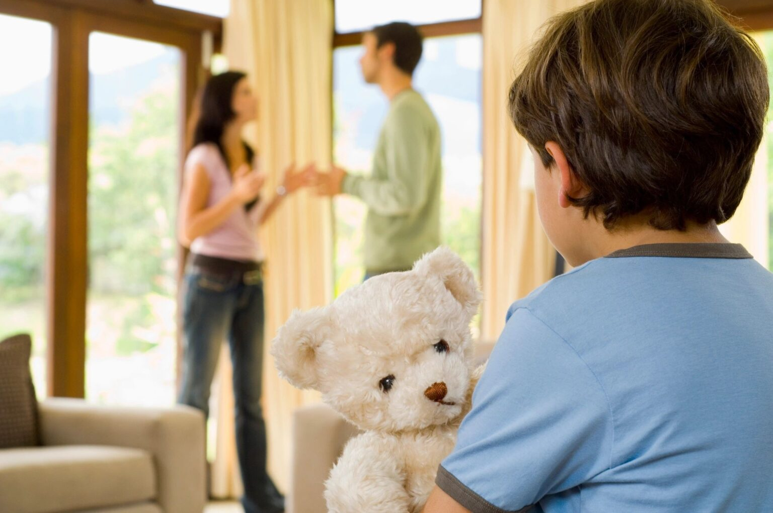 Child watching parents fight