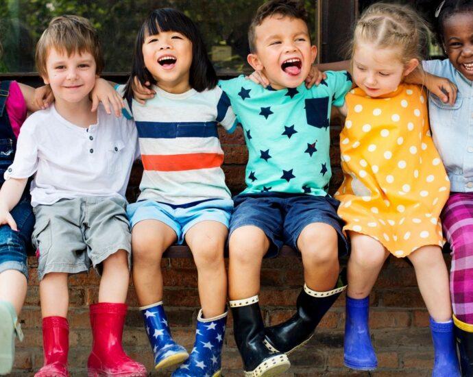 Happy little kids