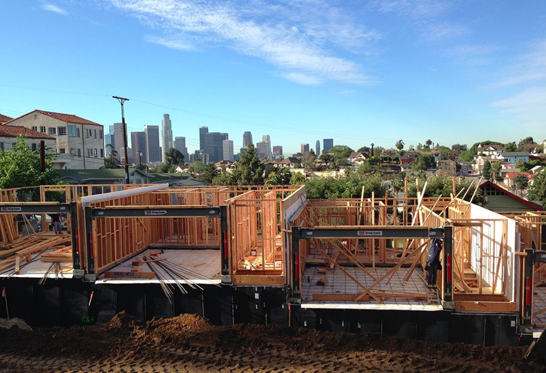 DTLA View and garages