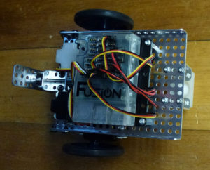 Back view of Fusion robot build.