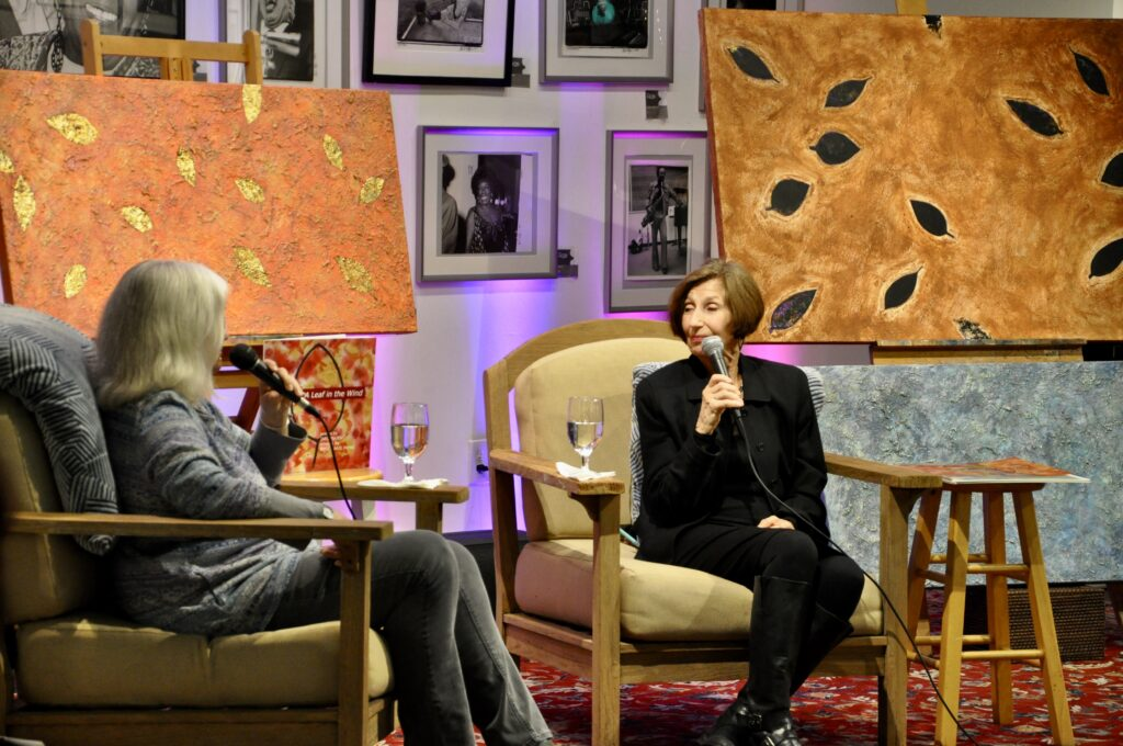 Interview scene between Colette Bancroft and Rose Marie Prins