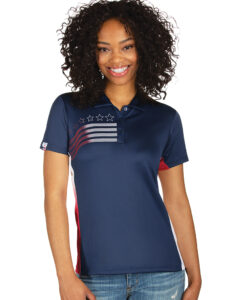 104274_974 Womens Liberty Navy - Dark Red - White
