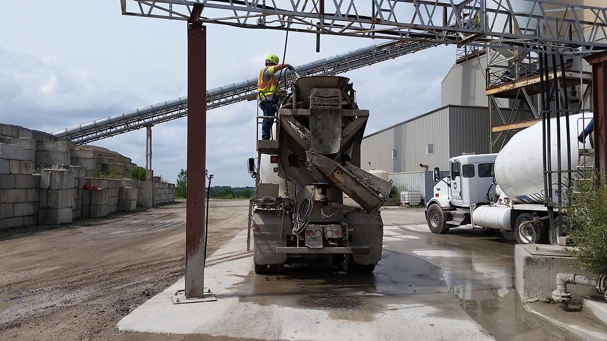 construction vehicles concrete mixing truck