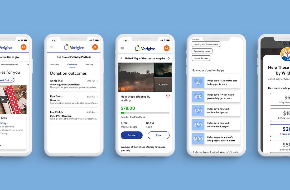 Donation screens (Mobile)