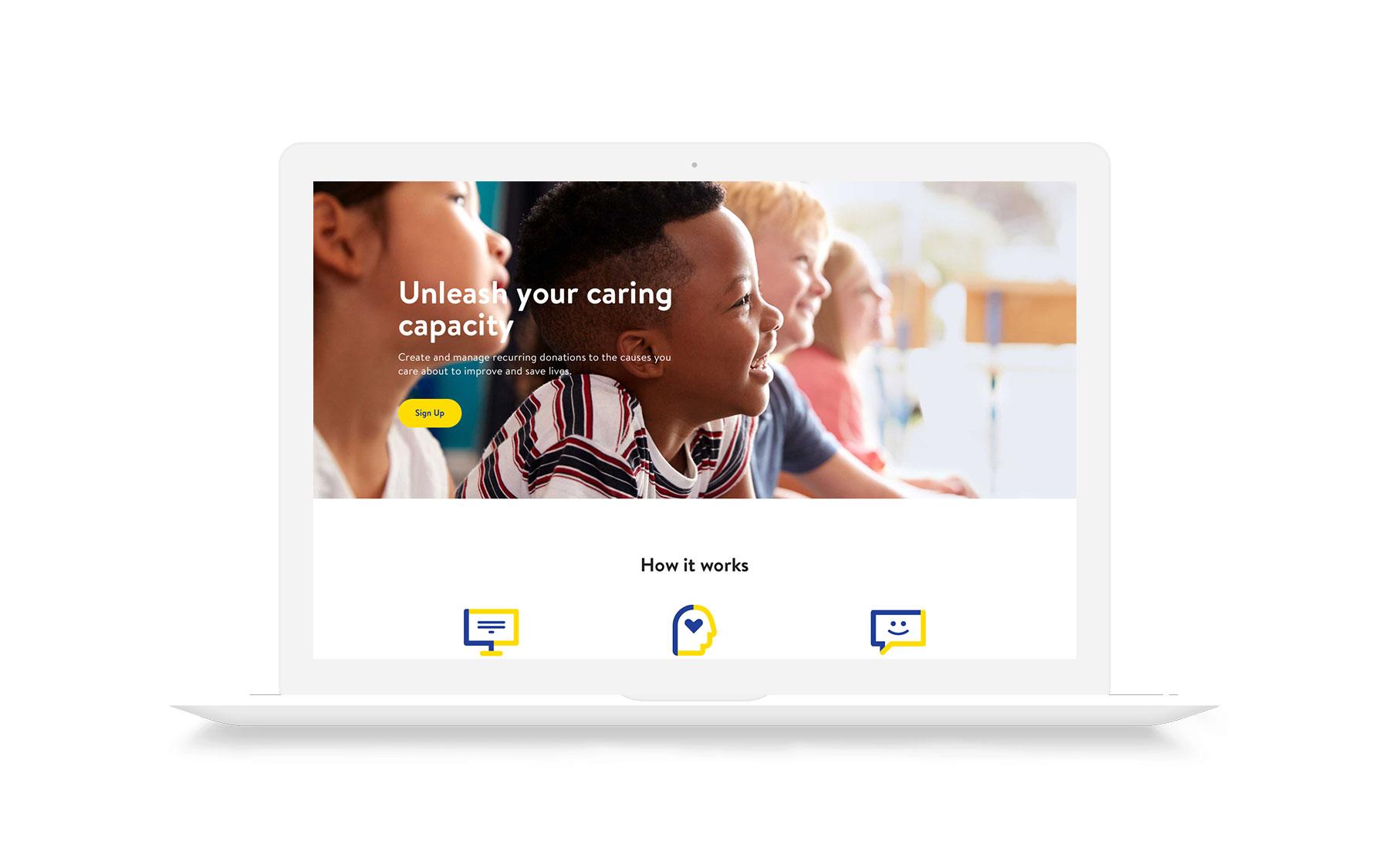 Final homepage (Desktop)