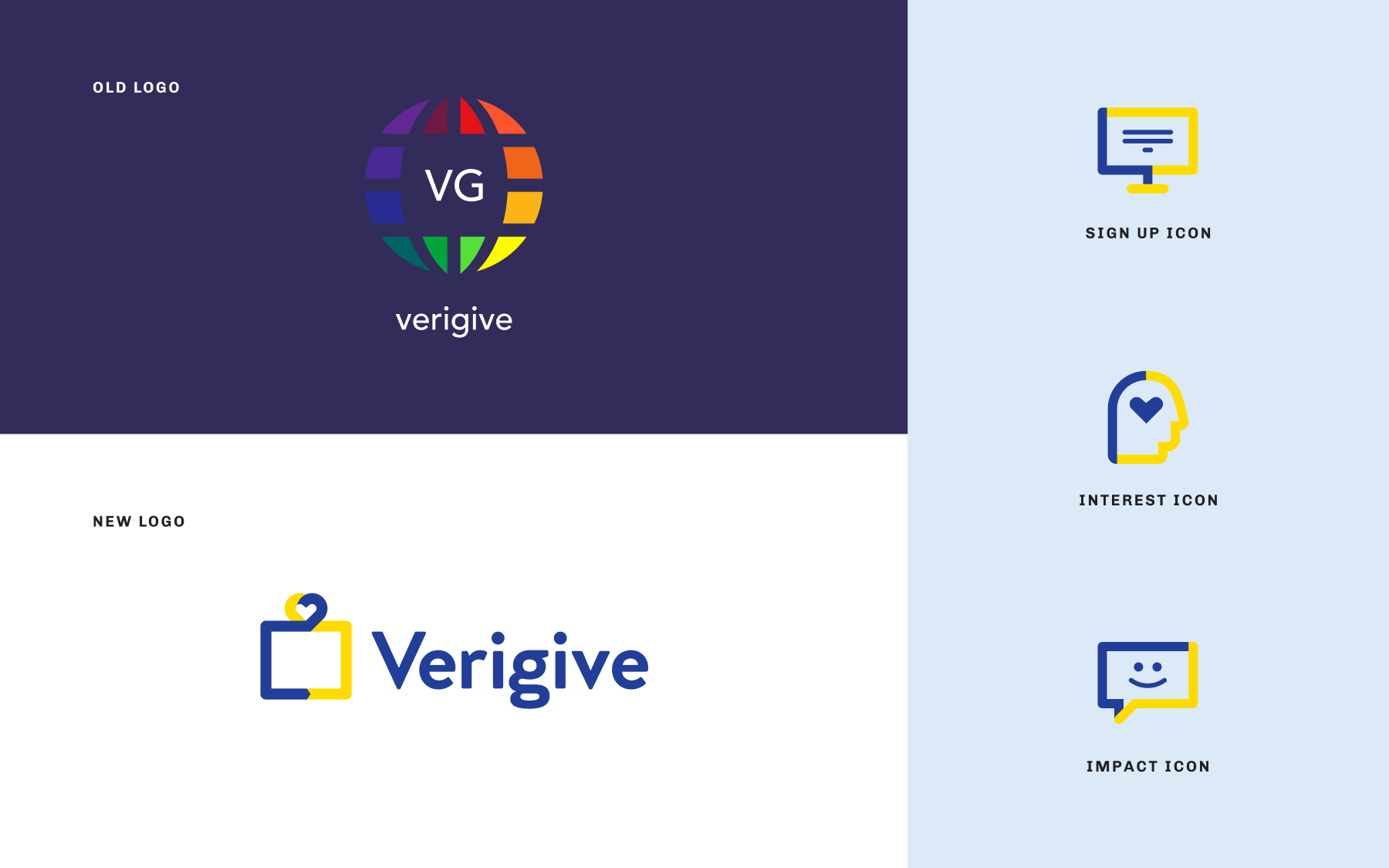 New verigive logo and icons
