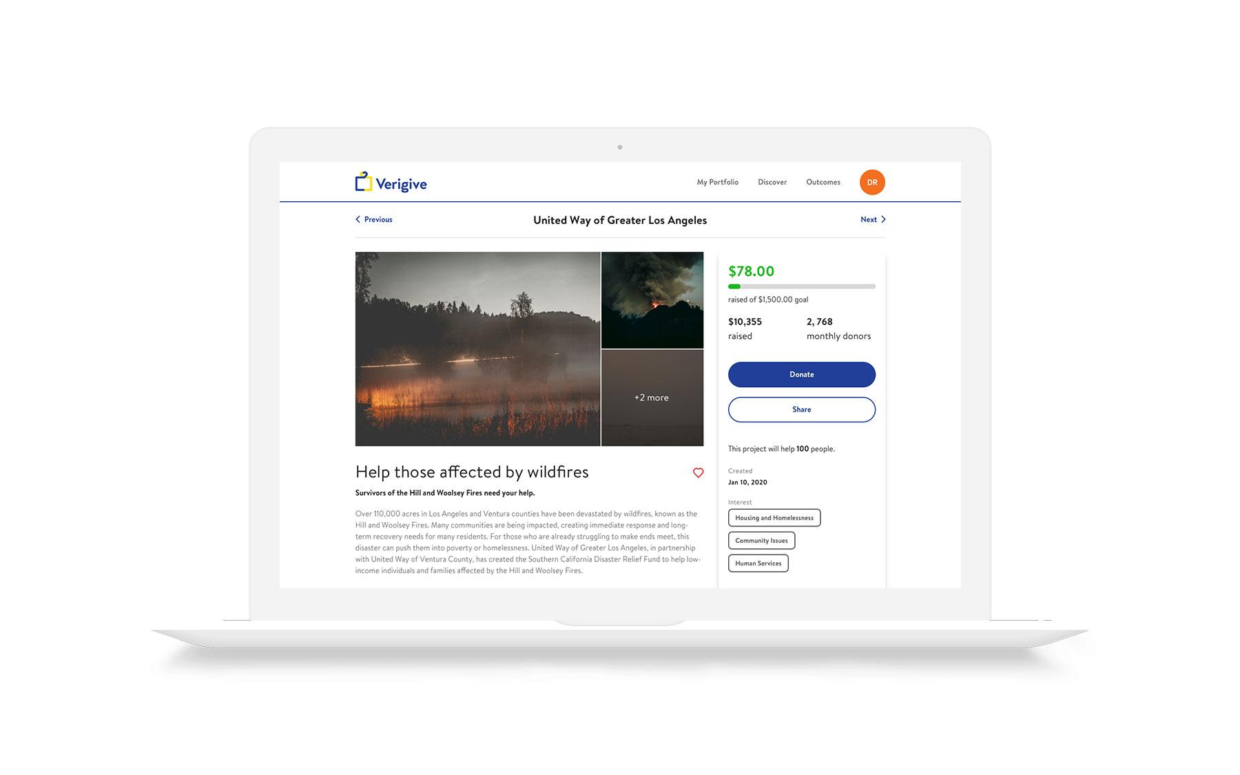 Final donation (Desktop)