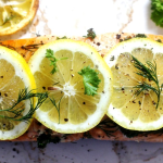 Baked Salmon with Lemon, Dill and Parsley