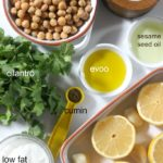 Roasted Lemon and Garlic Hummus with Cilantro