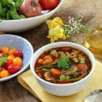Garden Vegetable Soup with Wild Leeks
