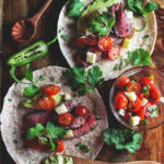 Beef Tacos with Spicy Avocado Sauce