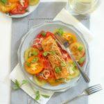 Roast Salmon with Heirloom Tomatoes