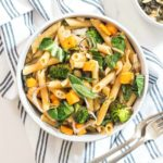 Penne with Roasted Butternut Squash, Broccoli and Sage