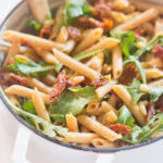 Sun-Dried Tomato, Arugula and Goat Cheese Pasta