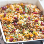Stuffing with Chickpea Lentil Pasta & Italian Sausage