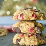 Chocolate Cranberry Oatmeal Cookies