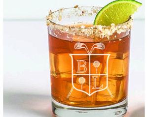 custom golf whiskey glass set
