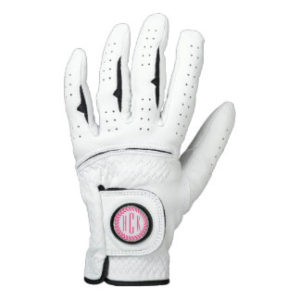 custom monogrammed womens golf glove