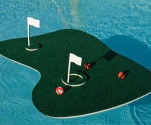 floating short game golf practice