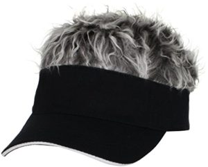 funny golf gift, fake hair visor, funny gift for bald golfers