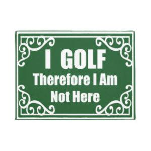 funny golf gift, golfer's doormat