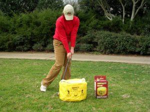 impact bag, golf training aid, golf swing trainer