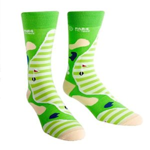 colorful green golf socks