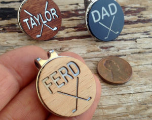 personalized golf gift golf ball markers hat clip