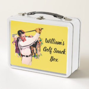 personalized golf lunch box