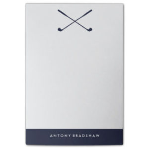 personalized golf post it notes