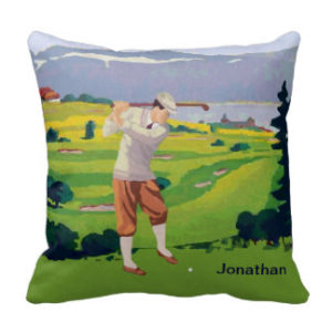personalized golf throw pillows
