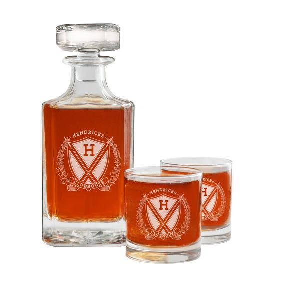 personalized golf gift whiskey decanter, unique gifts for golfers