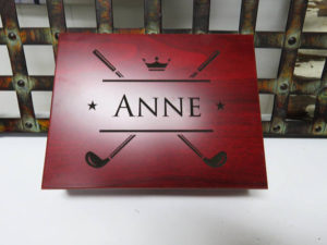 personalized wooden golf ball display box