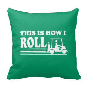 funny golf gifts, this is how i roll, funny golf pillow