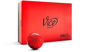 vice pro plus fire red golf balls