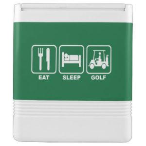 eat sleep golf - unique golf cooler