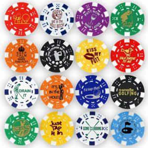funny golf tournament gifts, golf poker chips, golf ball marker poker chips
