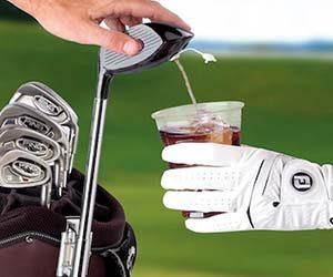 golf club drink dispenser, golf club alcohol, fun golf drinking gift